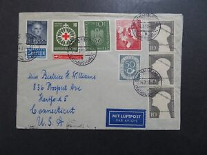 Germany-1953-Cover-w-Several-Better-Issues-Z9435