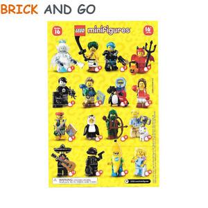 LEGO-Minifig-Figurine-Minifigure-71013-Serie-16-Series-16-Au-Choix-NEUF-NEW
