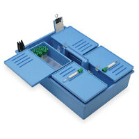 Isobox Phlebotomy Tray With Built-in Handle To-go Iso Large 17.325l X 11.6...