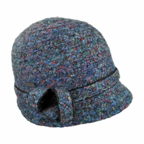 Women's Betmar Ella Cloche Hat Wool Blend Navy Blu
