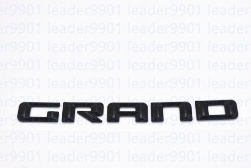 2PCS Kits Matte Black GRAND CHEROKEE 3D Letters Emblems Nameplate Jeep 14-16