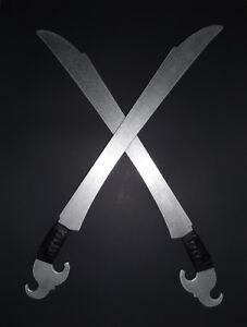 Prática Das Filipinas espadas de metal alumínio ginunting Par treinamento Kali Ronin