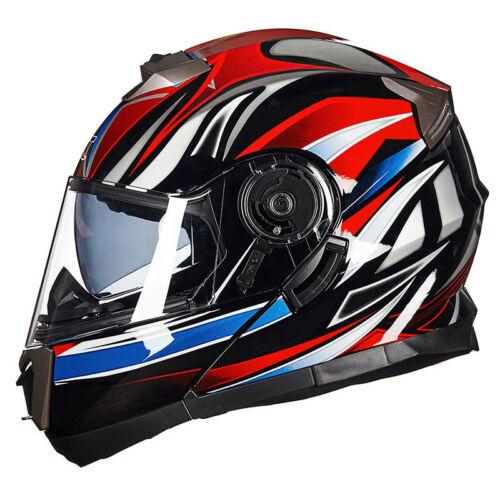 GXT 160 Motorcycle Flip Up Helmet Double Lens Full Motocross Helmets Motorbike