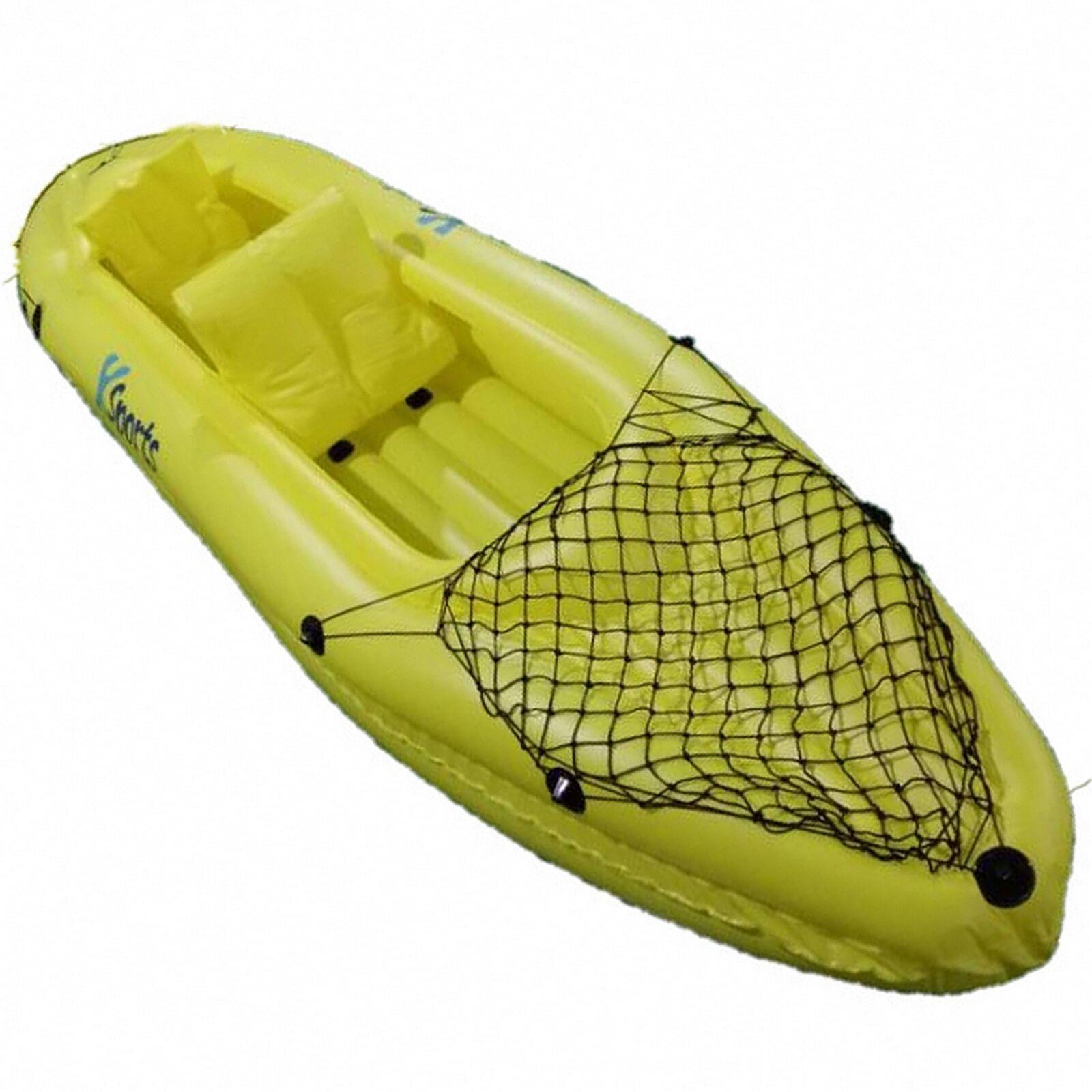 2 Person Inflatable Kayak Canoe. Aluminium Paddles Pump
