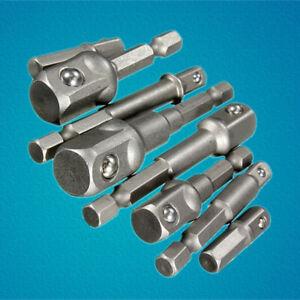 8x-Socket-Bit-Adapter-Hex-Drill-Nut-Driver-Power-Extension-Bar-1-4-039-039-3-8-039-039