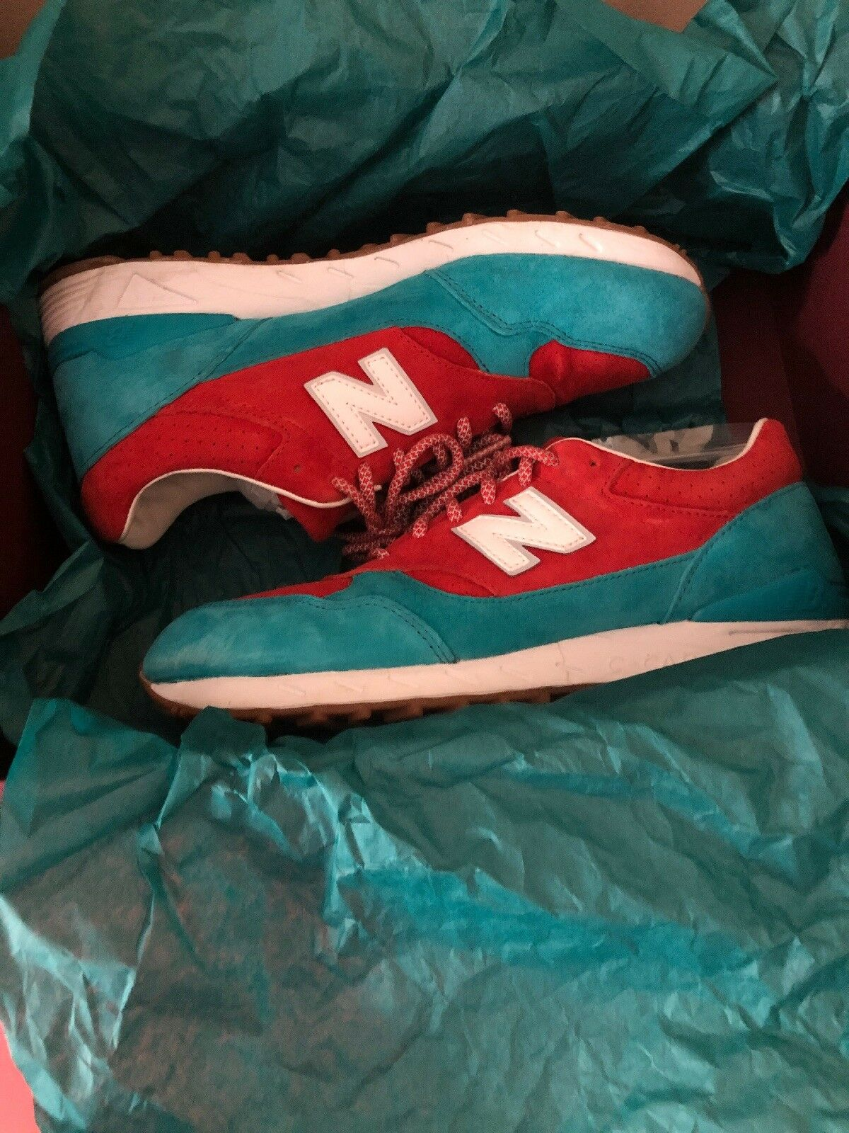 NEW BALANCE CM496CP RED TURQUOISE blueE WHITE GUM CONCEPTS REGATTA SIZE 9.5