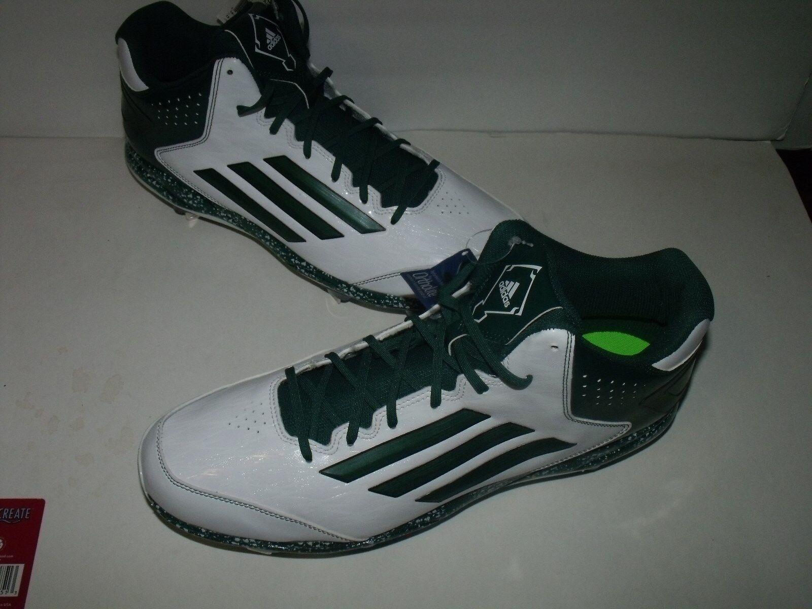 Adidas power vicolo 2 2 2 uomini metà metal scarpe da baseball (bianco   verde) nuovo mens sz 16 | Nuove Varietà Vengono Introdotti Uno Dopo L'altro  b9fc74