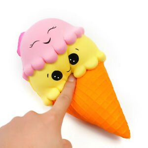 Squishy Romania : Modern 23cm Huge Squishy Ice Cream Cone Jumbo Slow Rising Soft Squeeze Toy Gift 6945548151774 eBay