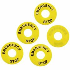 E Outstanding 5 Pcs Push Button Switch Emergency Stop Sign Emergency Stop Rin