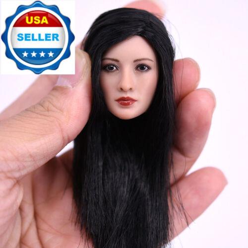 1//6 Asian Female Head Sculpt LONG BLACK Hair For PHICEN Figure SUNTAN Doll ❶USA❶