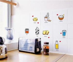 Cartoon Food Removable Decor Wall Sticker Decal Mural Kitchen Tile