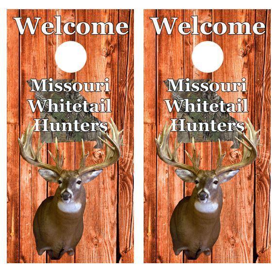 Missouri Whitetail Hunters Cornhole Board Game Wraps FREE  SQUEEGEE  discount