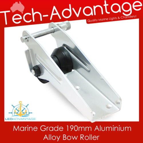 MARINE 190MM ALUMINIUM MARINE ALLOY BOAT YACHT ANCHOR SPRING LOADED BOW ROLLER
