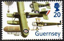 RAF Aircraft Stamp Fairey IIIC/Airship Balloon/Sopwith Camel/AVRO 504