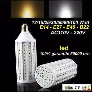 Comparazione Watt Lumen Led.Details About E27 E40 E14 B22 15 20 30 50 60 80 100 Watt Led 5730 Smd Lampada Lampadina 220v