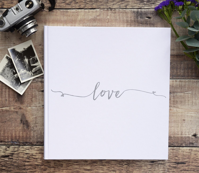 'Liebe' Photograph Album 30 Seiten   60 Seiten Farbe Wahlen Hochzeit Album