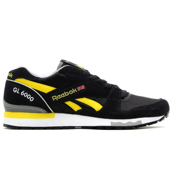 Reebok Men's shoes Classic GS 6000 Athletic V55225 Black Yellow White