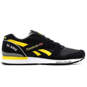 cb4fc5d084f2 Reebok Men s Shoes Classic GS 6000 Athletic V55225 Black Yellow ...
