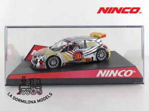 NINCO-50452-RENAULT-MEGANE-MCDONALDS-10-SLOT-SCALEXTRIC-NUEVO