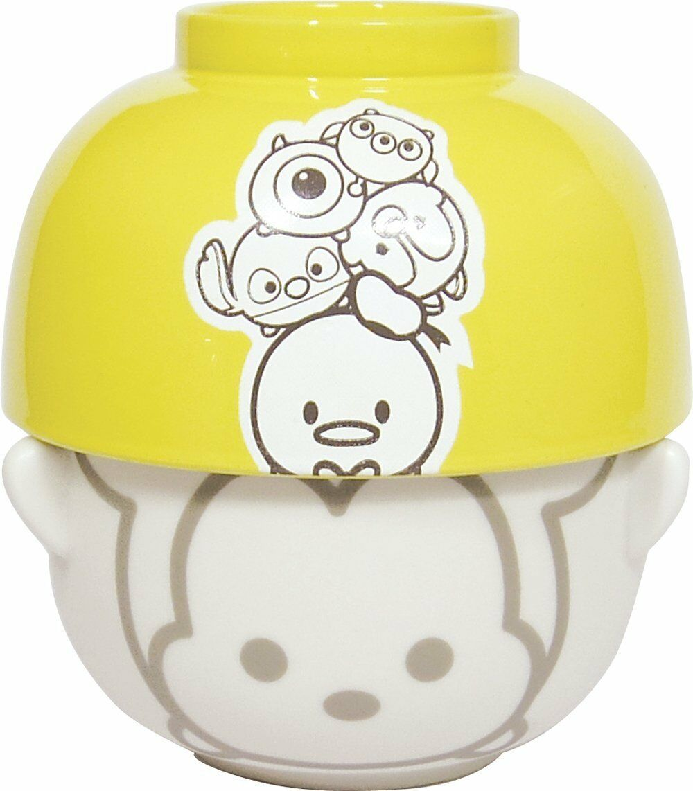 F S TsumTsum Japanese Rice Bowl & Soup Bowl Set from Japan