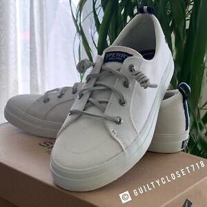 Crest Vibe Sneaker White Linen | eBay
