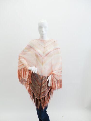 Valentino   Fringe Trim Knitted Poncho