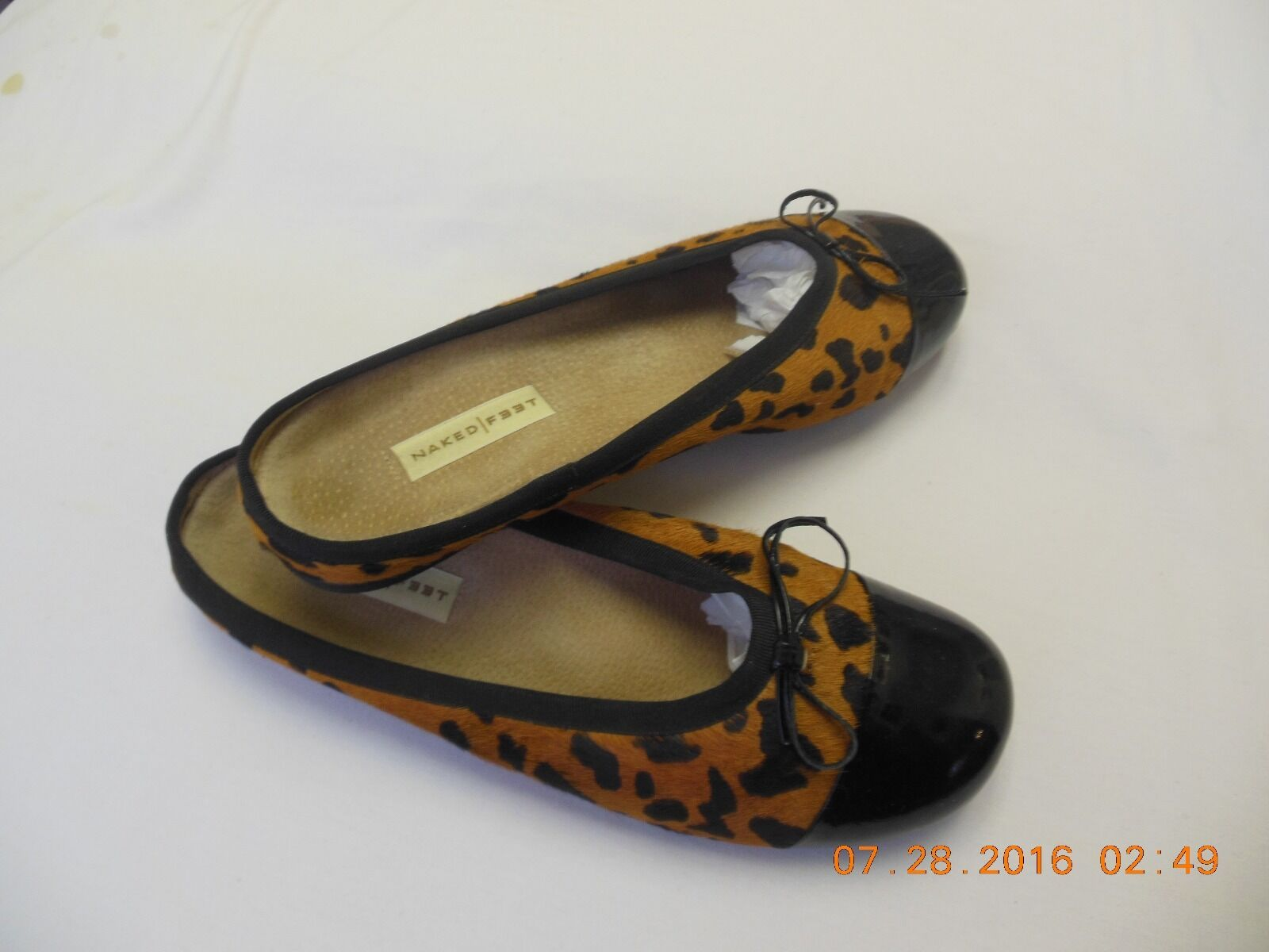 Calf skin leather animal print and patent leather skin slides size 10M b6fcc6