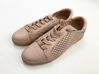 Straightforward Nwob Kenneth Cole Reaction Joey Sneakers Size10 Pink Blush Leather Perforated Punctual Timing Men's Clothing