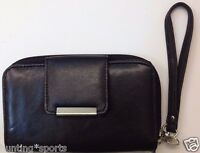 Ladies Genuine Leather Wrist Wallet Zipper Pocket Cell Phone Pocket Wristlet