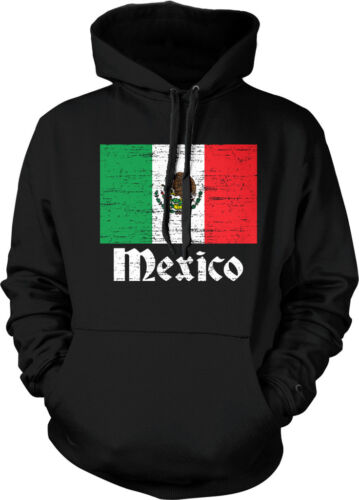 Distressed Mexico Country Flag Mexican Pride  Hoodie Pullover