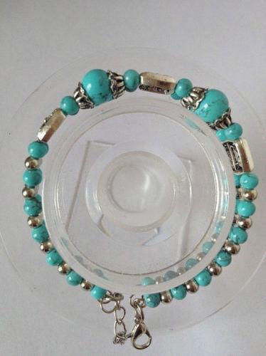 US1006   Tibet Handmade Turquoise Bracelet 0.01 Auction