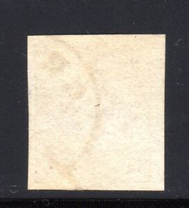 1850 Austria Scott 1 (Mi. 1Xa) 1kr yellow handmade paper w/light cxl likely Graz