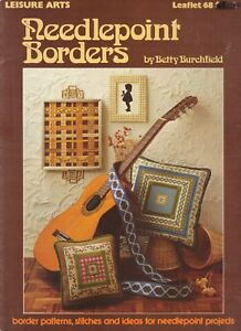 Counted-Cross-Stitch-Patterns-Needle-Point-Borders-5-Projects-By-Leisure-Arts