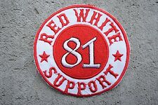 2SUPPORT 81Crew Red White MC Angels 666 Hells vest patch Outlaw Biker 1/% er