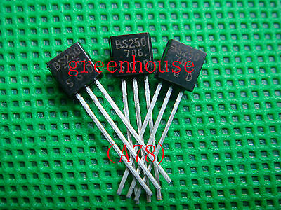 100pcs BS250 P Channel MosFET TO-92 Brand New (A79)