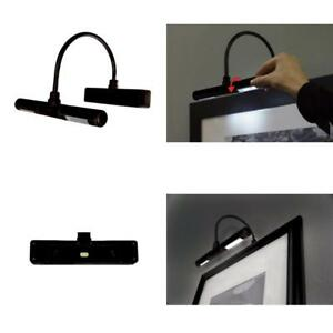 Details About Adjule Led Picture Art Lamp Wireless Light Battery Wall Lighting Gallery
