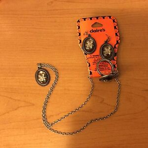 Halloween Jewelry Earrings, Ring, Necklace Spider Claire's Set | eBay