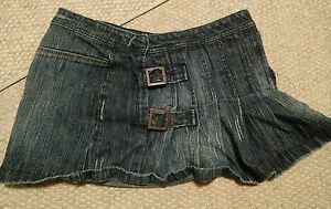 000-Arizona-Jeans-Mini-Skirt-Buckles-Front-Size-5