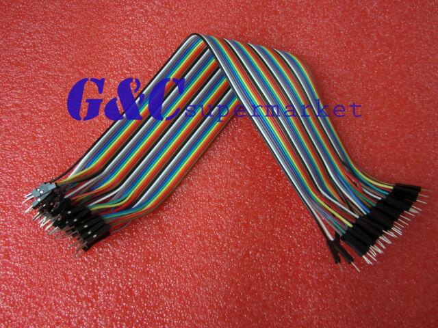 Arduino Shield 40pcs×30cm 2.54mm Male to Male Dupont cables GOOD QUALITY