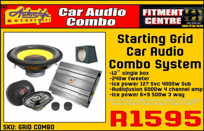 Starting Grid Car Audio Combo System