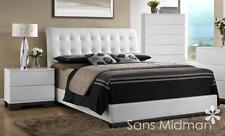 NEW! Averi White Modern Bedroom Furniture 3 piece Queen Size Platform Bed Set