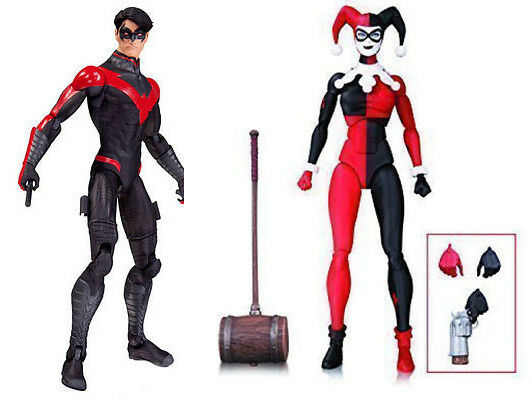 Dc comics batman nightwing & harley quinn.