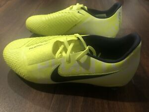 Nouveau Nike Jr Phantom Venom Elite FG ACC Youth Soccer Crampons taille 6Y Noir Fluo