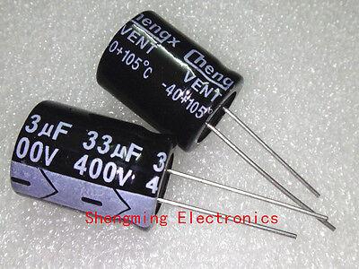 10pcs 33uF 400V Electrolytic Capacitor 400V33UF 16x22mm