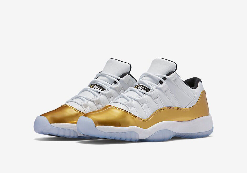Nike Air Jordan Retro 11 Low Doré Closing Ceremony 528896-103 Olympic GS 4Y - 7Y