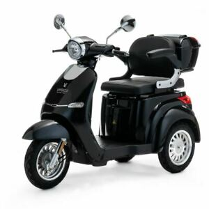 3 Wheeled ELECTRIC MOBILITY SCOOTER 1000W VELECO CRISTAL BLACK