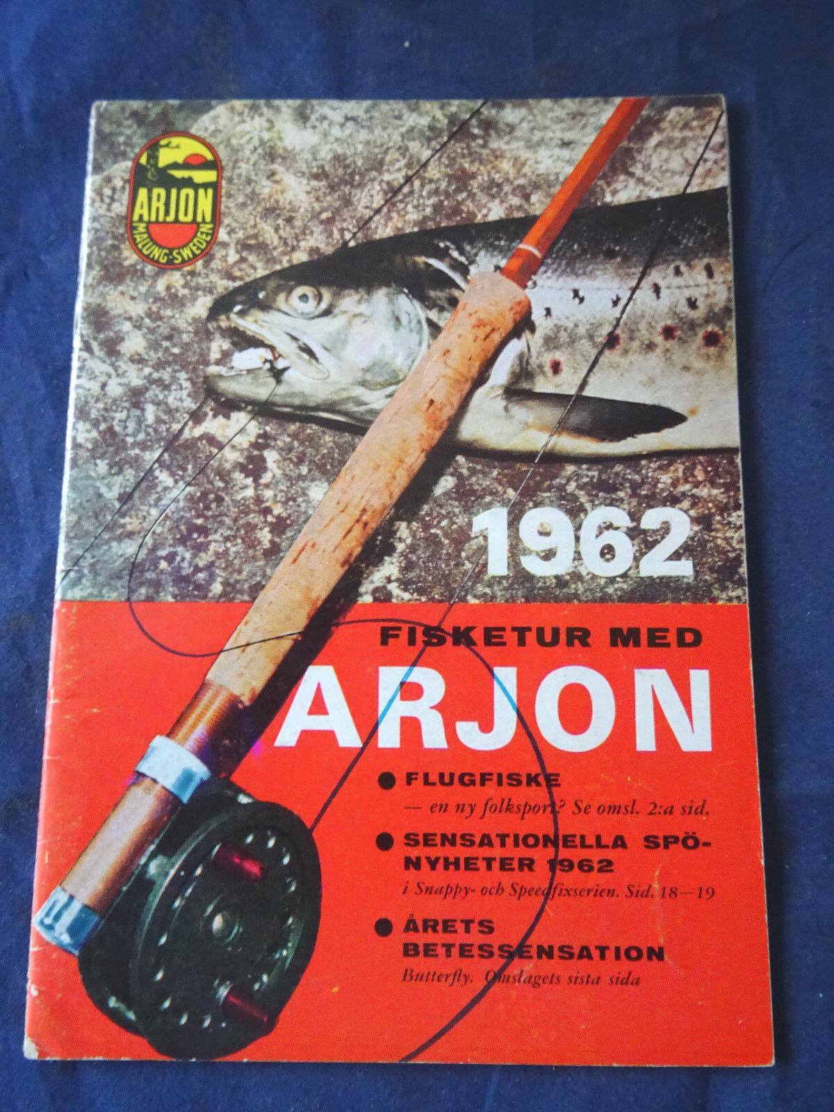 Un raro vintage arjon di Svezia catalogo catalogo catalogo di pesca per 1962 d774d1