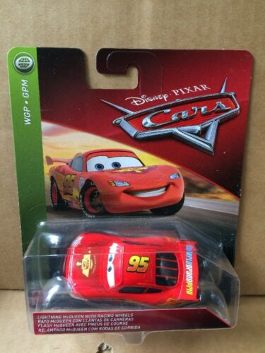 DISNEY CARS DIECAST Lightning McQueen With Racing Wheels 2018 Combined Postage