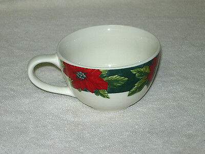 Gibson Designs Charming Poinsettia Coffee Tea Cup