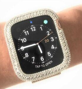 Bling Apple Watch Series 4 5 Bezel Case Cover Zirconia Diamond Rose Gold 40 Mm Ebay